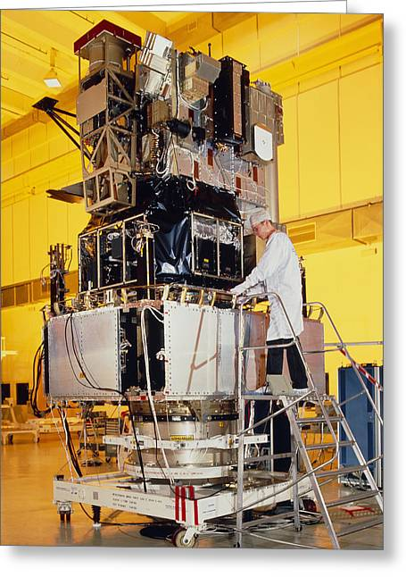 Soho Spacecraft During Tests In France Greeting Card