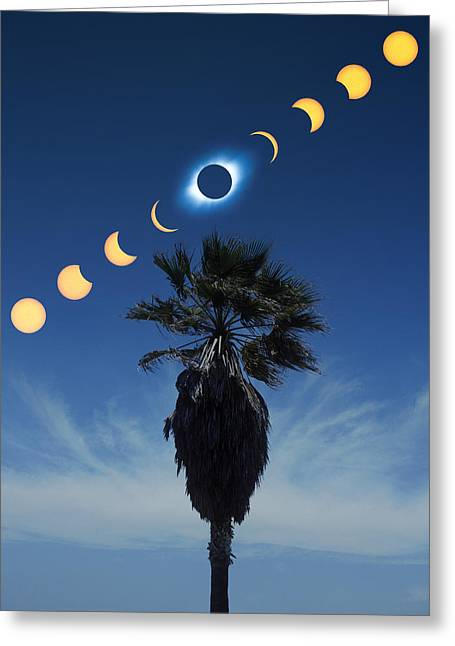 Solar Eclipse Sequence Greeting Card by Detlev Van Ravenswaay