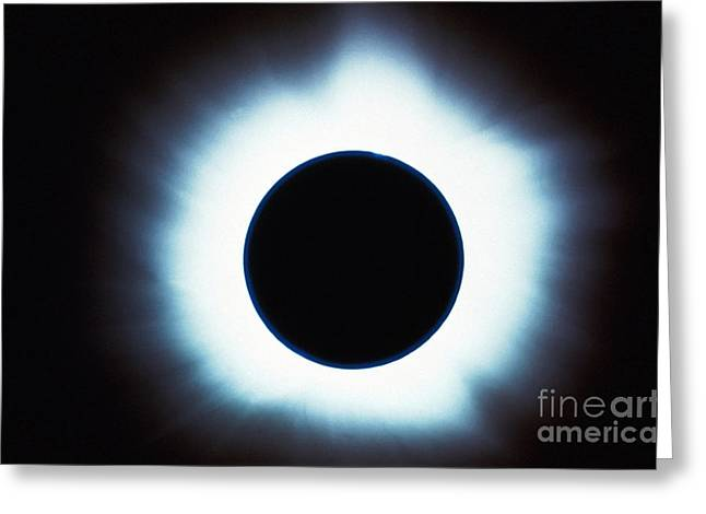 Solar Eclipse Greeting Card by Stocktrek Images