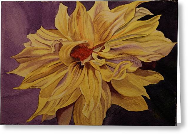 Greeting Card featuring the painting Solar Flares by Teresa Beyer