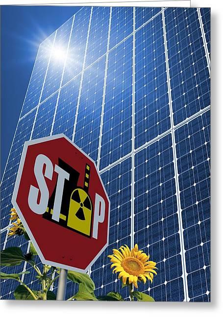 Solar Power As Alternative To Nuclear Greeting Card