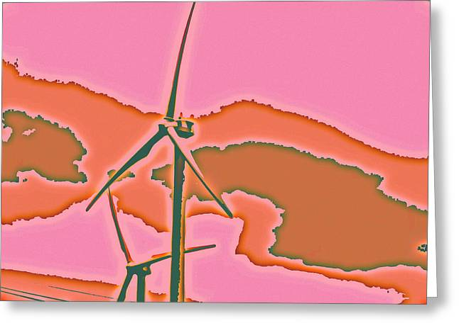 Solar Power Greeting Card by Elizabeth  Doran