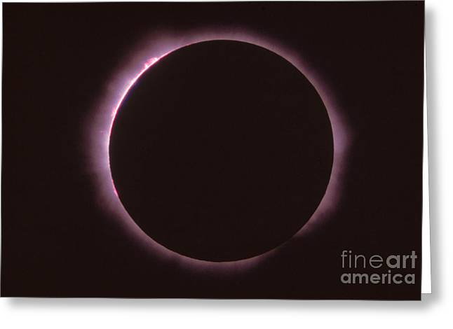 Solar Prominence And Chromosphere Greeting Card by Science Source