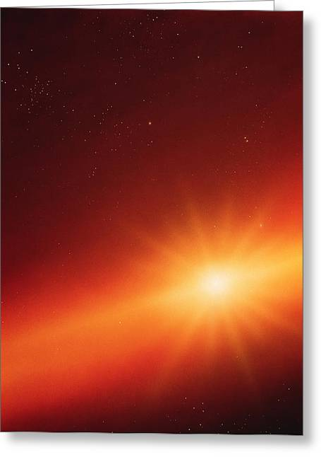 Solar System Formation Greeting Card by Detlev Van Ravenswaay