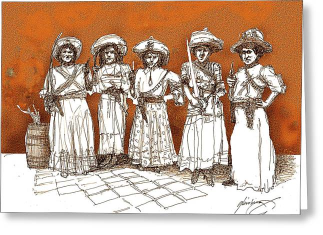 Soldaderas Mexicanas Greeting Card