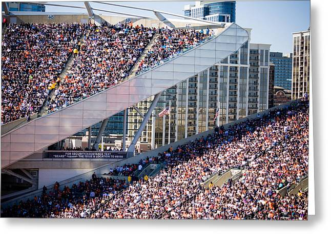 Soldier Field Crowd Greeting Card
