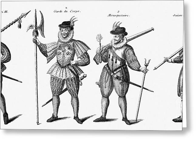 Soldiers, 16th Century Greeting Card