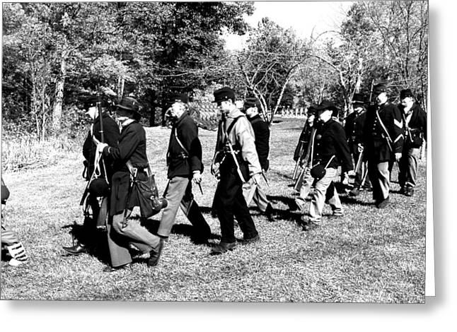 Soldiers March Black And White II Greeting Card by LeeAnn McLaneGoetz McLaneGoetzStudioLLCcom