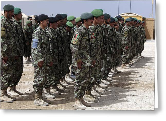 Soldiers Of The Afghan National Army Greeting Card