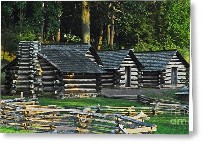 Greeting Card featuring the photograph Soldiers Quarters At Valley Forge by Cindy Manero