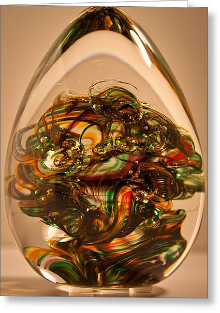 Solid Glass Sculpture E1p Greeting Card by David Patterson