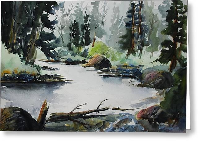 Solitude - Gull River Greeting Card