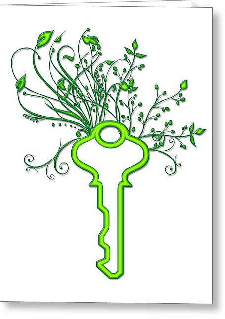 Solving Green Issues, Conceptual Image Greeting Card