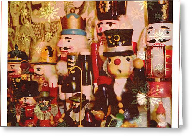 Some Flakey Nutcrackers Greeting Card by Mindy Newman