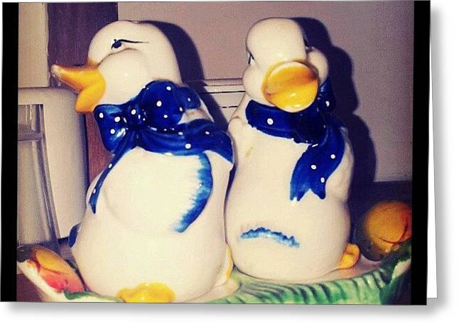 Some Very #old #salt And #pepper Greeting Card