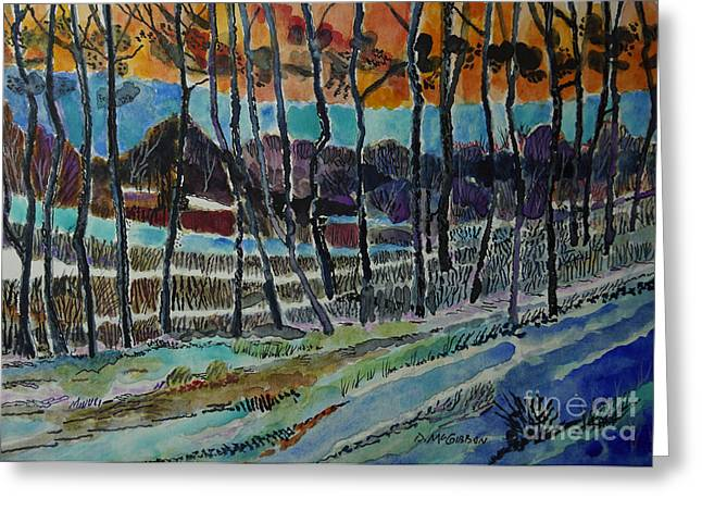Somerset Pa Snow Scene 2 Greeting Card by Donald McGibbon
