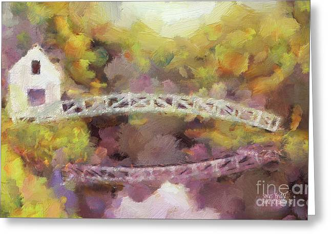 Somes Bridge - Somesville Maine Greeting Card