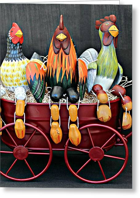 Greeting Card featuring the photograph Something To Cluck About by Jo Sheehan