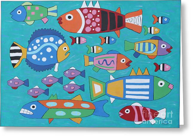 Something's Fishy Greeting Card by Marilyn West