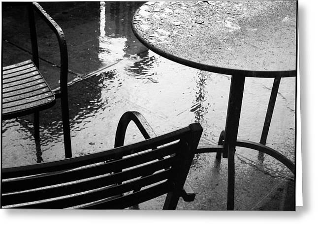 Sometimes It Rains Greeting Card by Anne McDonald