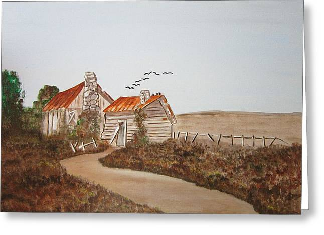 Somewhere In The Countryside Greeting Card by Riana Van Staden