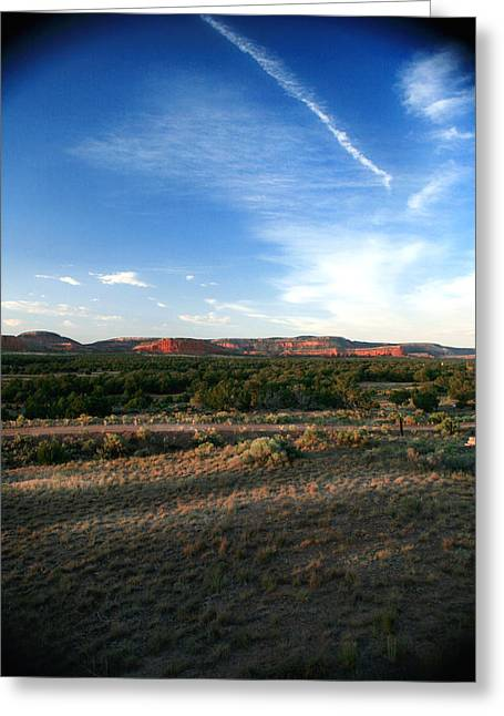 Greeting Card featuring the photograph Somewhere Off The Interstate In New Mexico by Lon Casler Bixby
