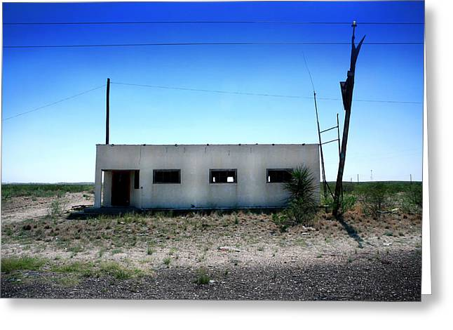 Greeting Card featuring the photograph Somewhere On The Old Pecos Highway Number 1 by Lon Casler Bixby