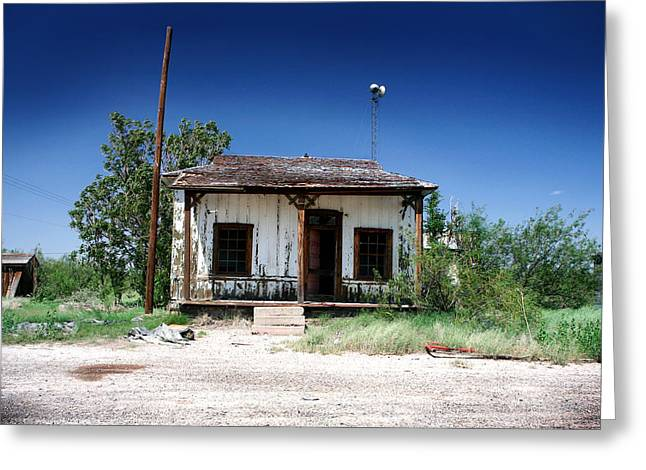 Greeting Card featuring the photograph Somewhere On The Old Pecos Highway Number 3 by Lon Casler Bixby