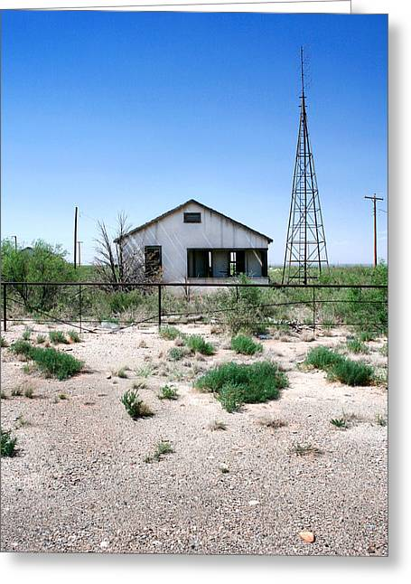 Greeting Card featuring the photograph Somewhere On The Old Pecos Highway Number 5 by Lon Casler Bixby