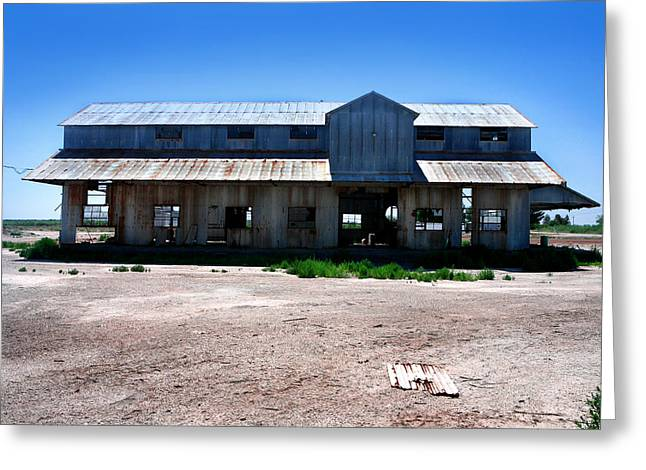 Greeting Card featuring the photograph Somewhere On The Old Pecos Highway Number 6 by Lon Casler Bixby
