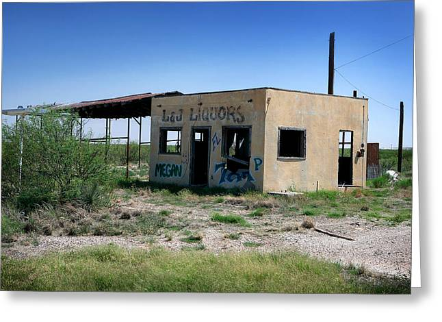 Greeting Card featuring the photograph Somewhere On The Old Pecos Highway Number 7 by Lon Casler Bixby