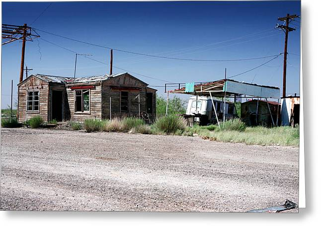 Greeting Card featuring the photograph Somewhere On The Old Pecos Highway Number 8 by Lon Casler Bixby