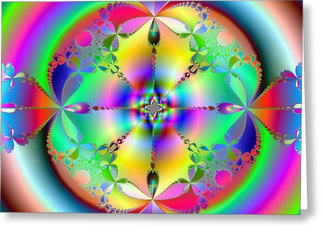 Greeting Card featuring the digital art Song Of India by Ann Peck