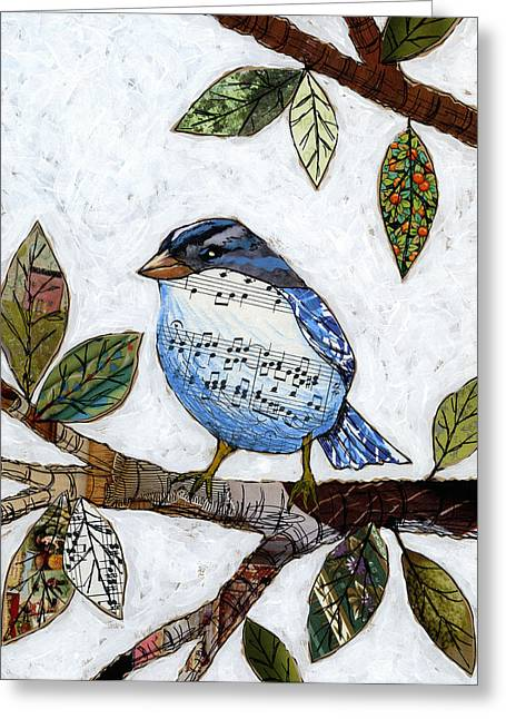 Songbird Greeting Card by Amy Giacomelli