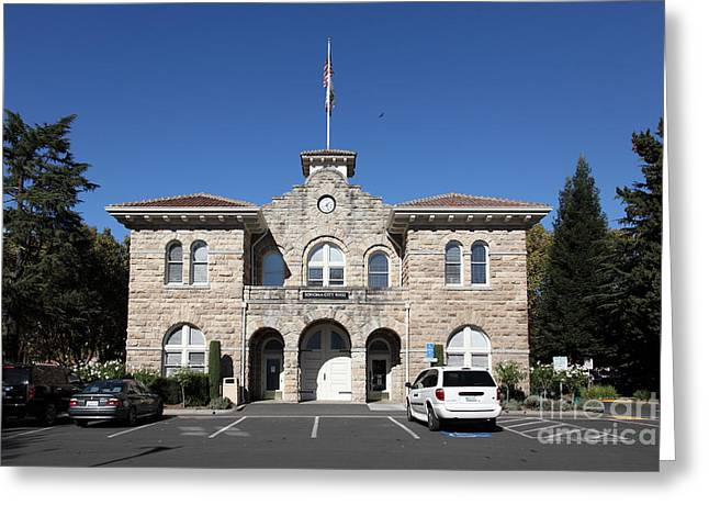 Sonoma City Hall - Downtown Sonoma California - 5d19265 Greeting Card by Wingsdomain Art and Photography