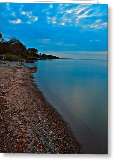 Soothing Shoreline Greeting Card by Frozen in Time Fine Art Photography