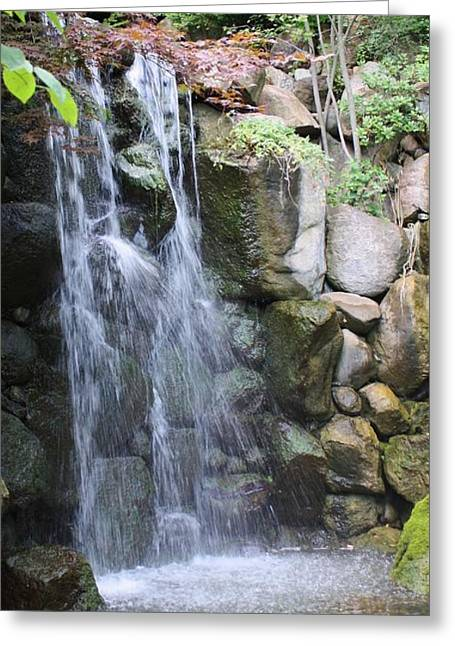 Greeting Card featuring the photograph Soothing Waterfall by Bruce Bley