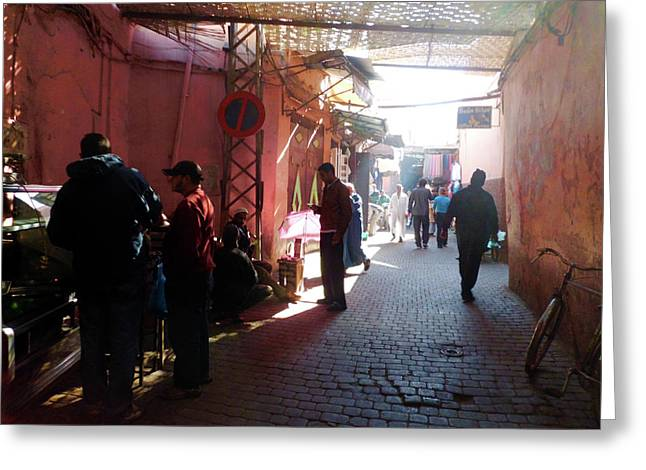 Souk In Marrakesh 01 Greeting Card by Miki De Goodaboom