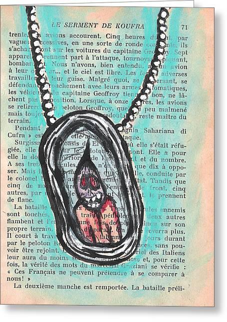 Soul Necklace Greeting Card by Jera Sky