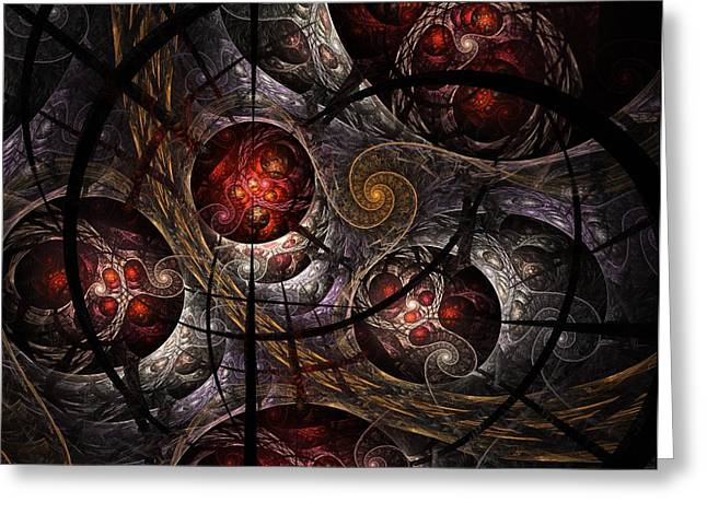 Greeting Card featuring the digital art Soul Of Osiris by NirvanaBlues