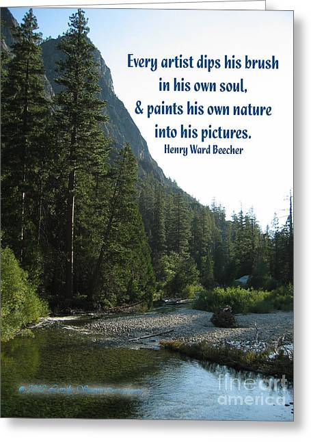 Soul Paint Greeting Card by Lovely  Scenes Photography