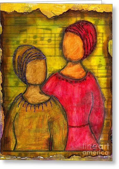 Soul Sistahs Sing Of Friendship Greeting Card