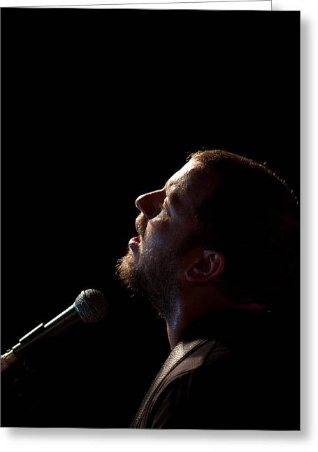 Soulful Singer - Ard Matthews Greeting Card by Miguel Capelo
