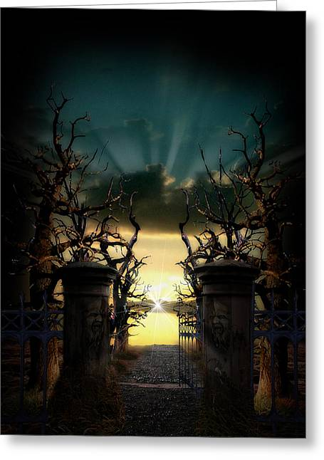 Souls Night Greeting Card by Lisa Evans