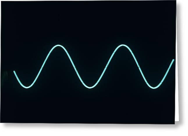 Sound Wave Greeting Card by Andrew Lambert Photography