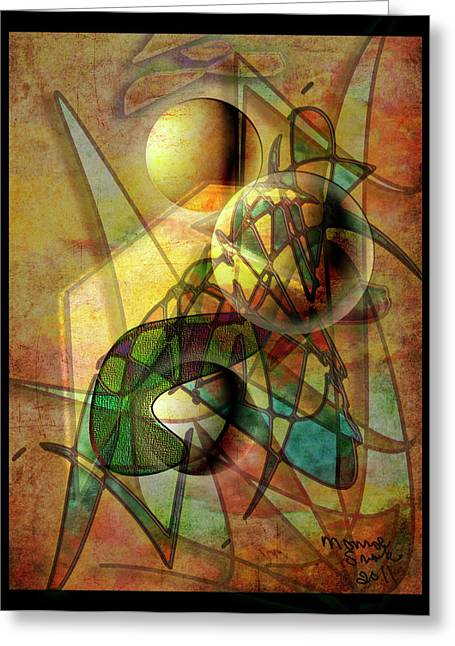 Sound Waves Greeting Card by Monroe Snook