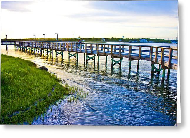 Soundside Park Surf City Greeting Card