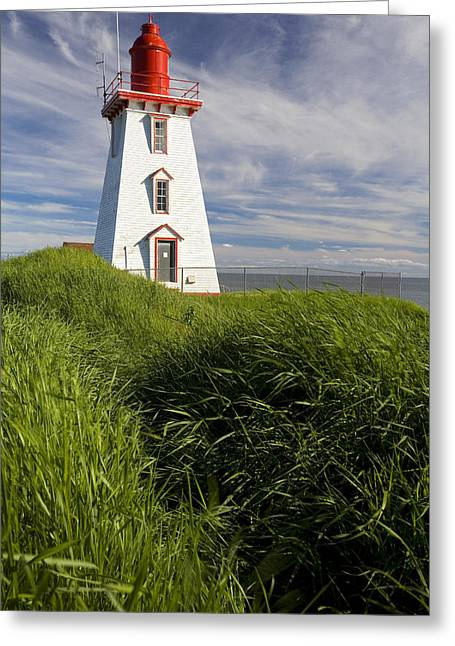 Souris Harbour Lighthouse, Souris Greeting Card by John Sylvester