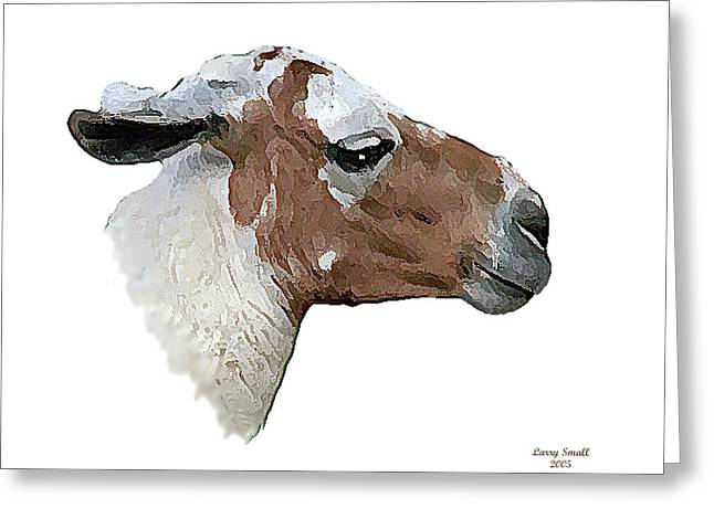 South American Goat Greeting Card by Larry Small