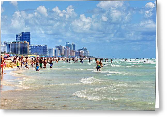South Beach Greeting Card by Dieter  Lesche